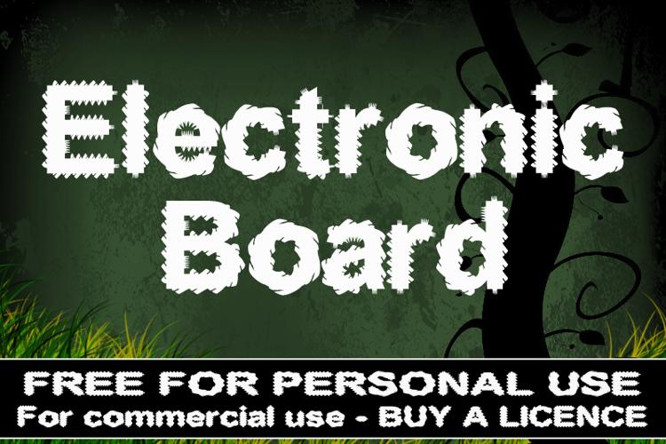 CF Electronic Board Font