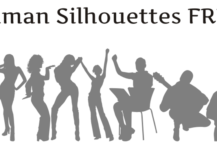 Human Silhouettes Free Font