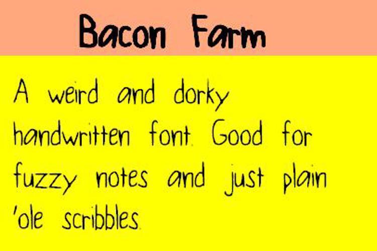 BaconFarm Font