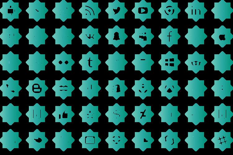 icons social media Font