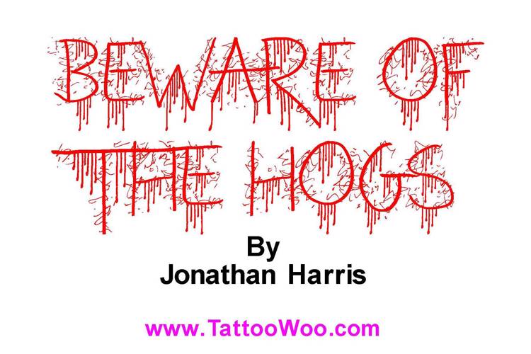 Beware of the Hogs Font