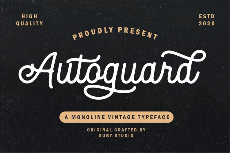 Autoguard Font