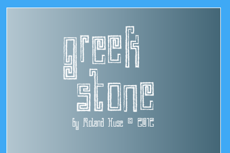 Greek Stone Font