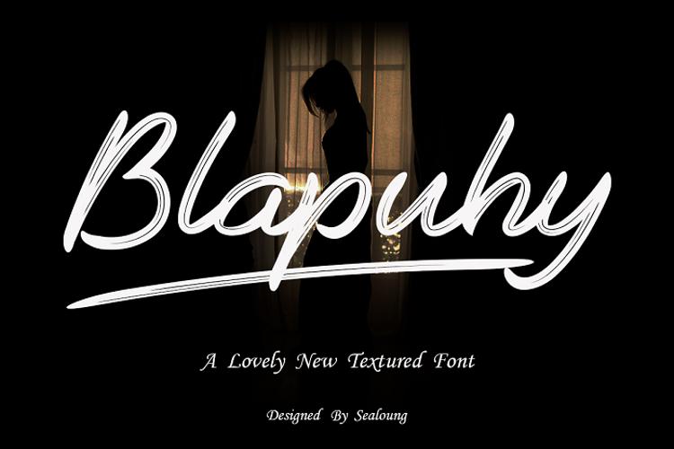 Blapuhy Font