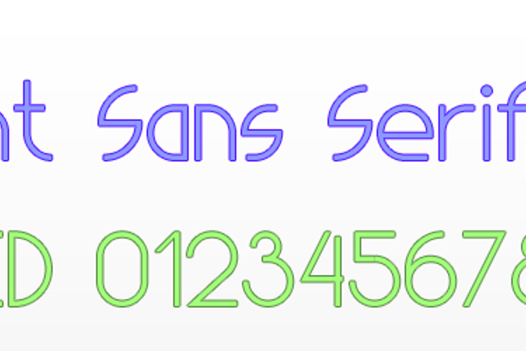 Light Sans Serif 7 Font