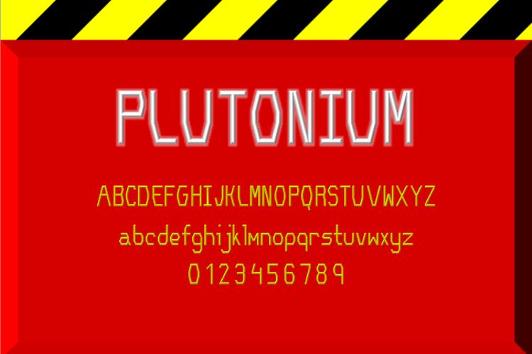 Plutonium NBP Font