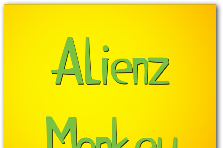 Alienz Monkey Font