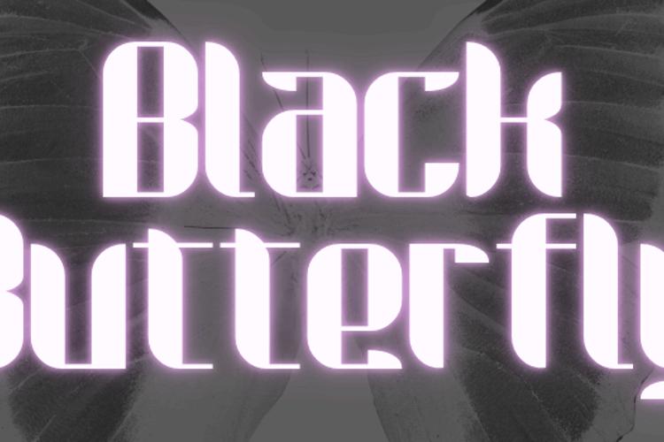 Black Butterfly Font