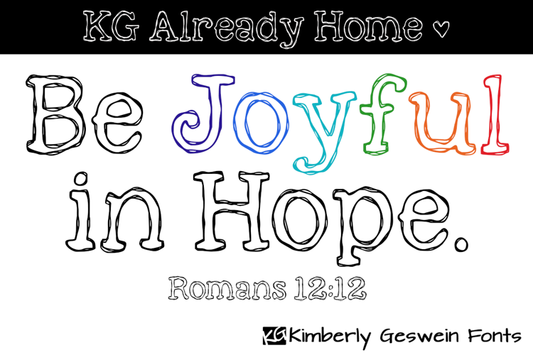 KG Already Home Font