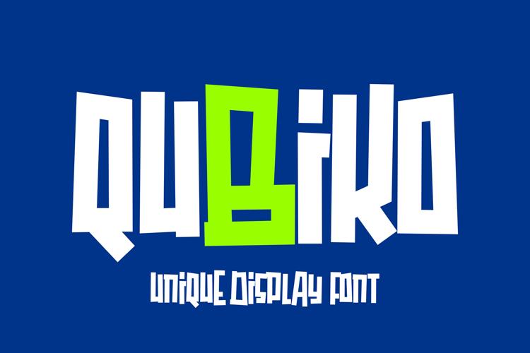 Qubiko Font