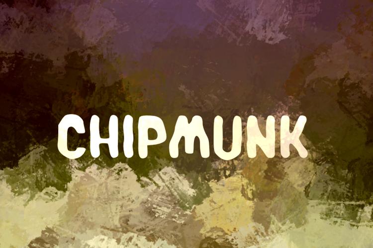 c Chipmunk Font