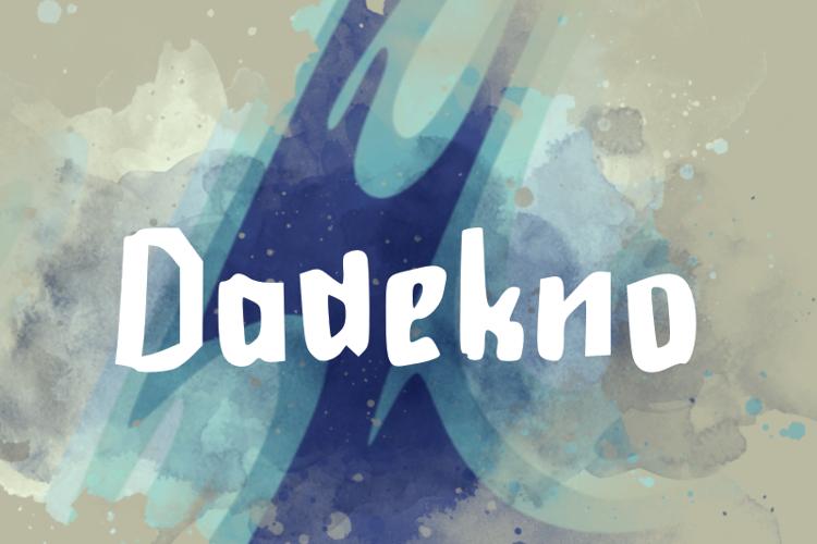 d Dadekno Font