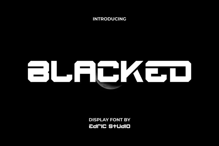 Blacked Font