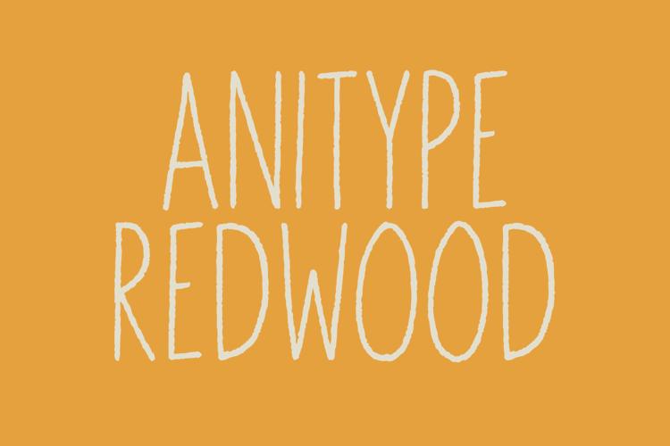 Anitype Redwood1 Font