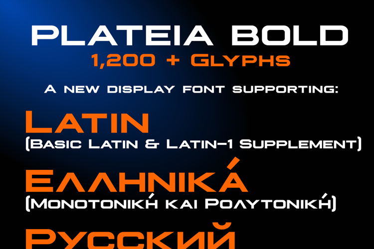 Plateia Font