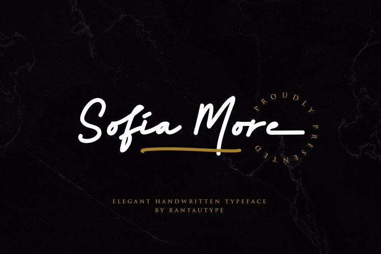 Sofia More Font