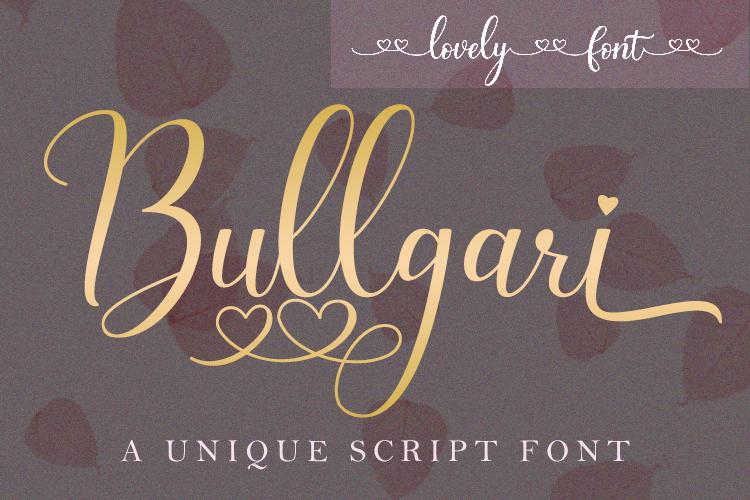Bullgari Font