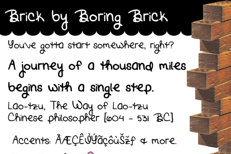 Brick by Boring Brick Font