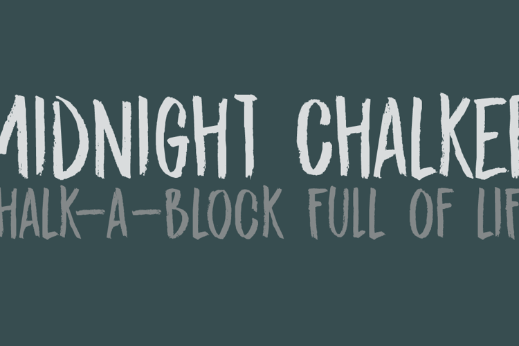 DK Midnight Chalker Font