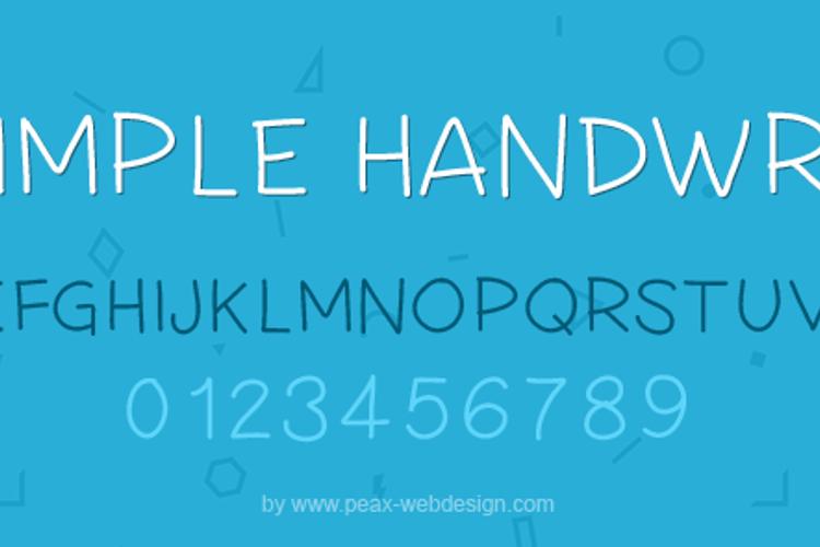 PW Simple Handwriting Font