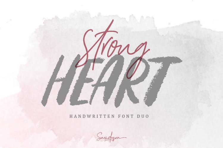 Strong Heart Script Font