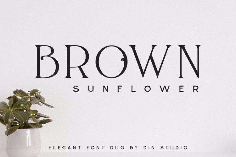 BROWN SUNFLOWER SERIF Font