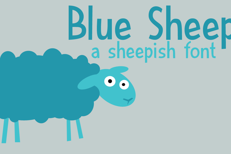 DK Blue Sheep Font