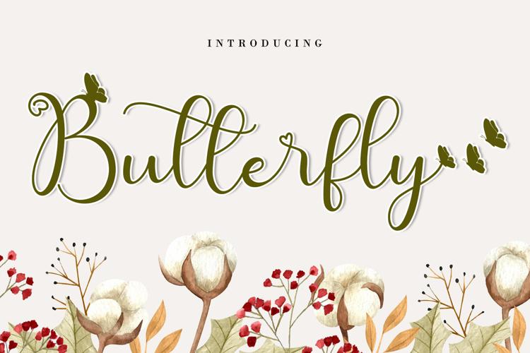 Cute Butterfly Font