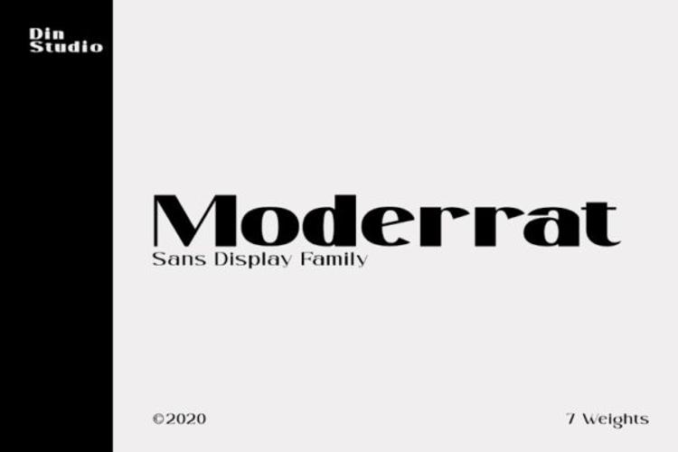 Moderrat Font
