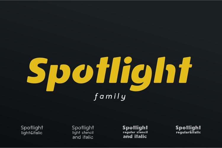 Spotlight Stencil Font