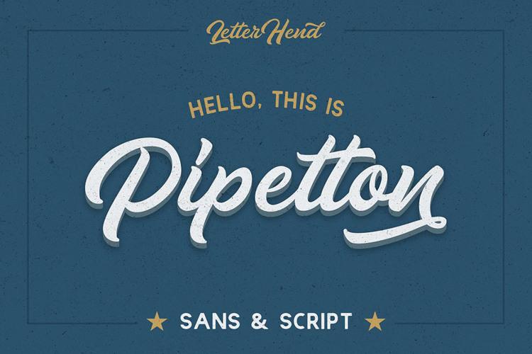 Pipetton Script Regular Font