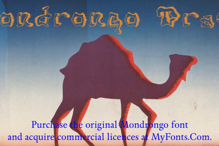 Mondrongo Trash Font