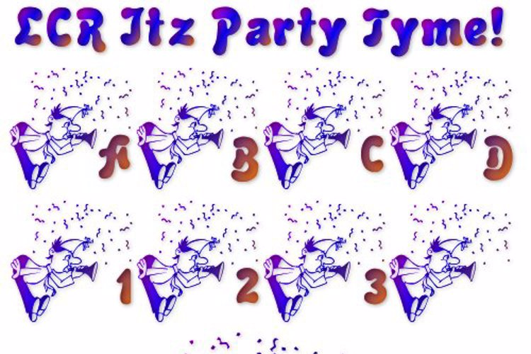 LCR Itz Party Tyme! Font