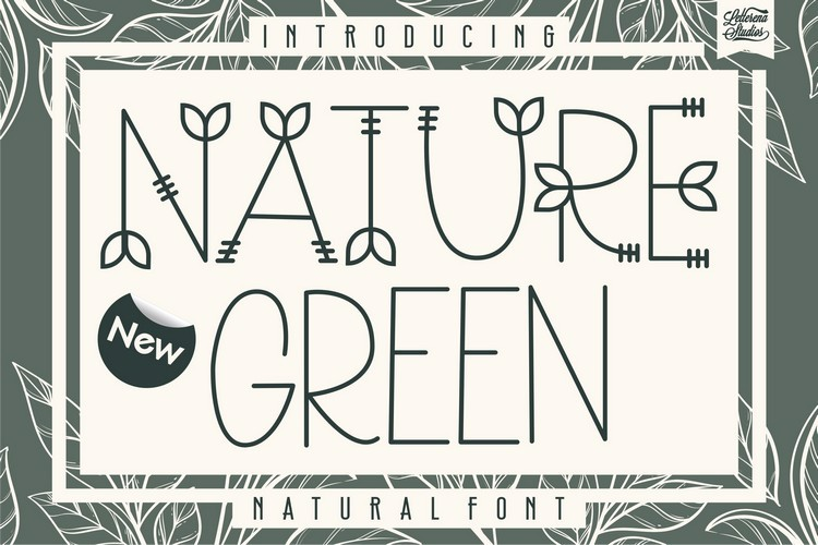 NATURE green Font