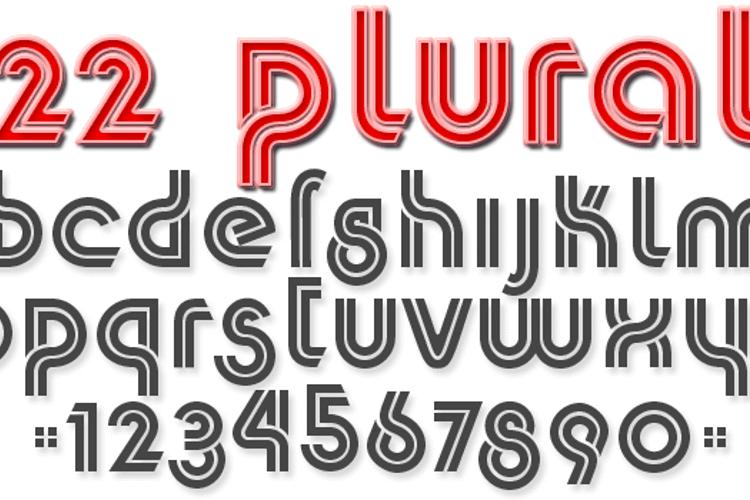 K22 Plural Font