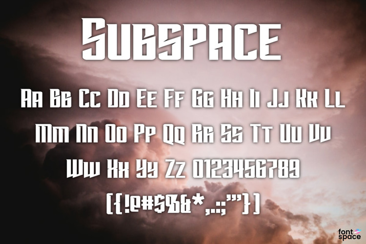 Subspace Font
