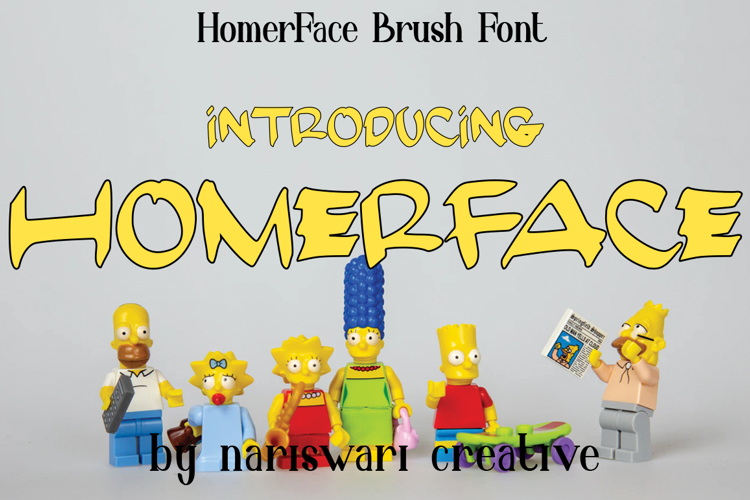 Homer Face Font