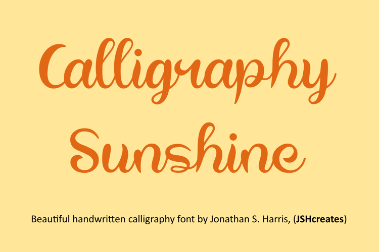 Calligraphy Sunshine Font