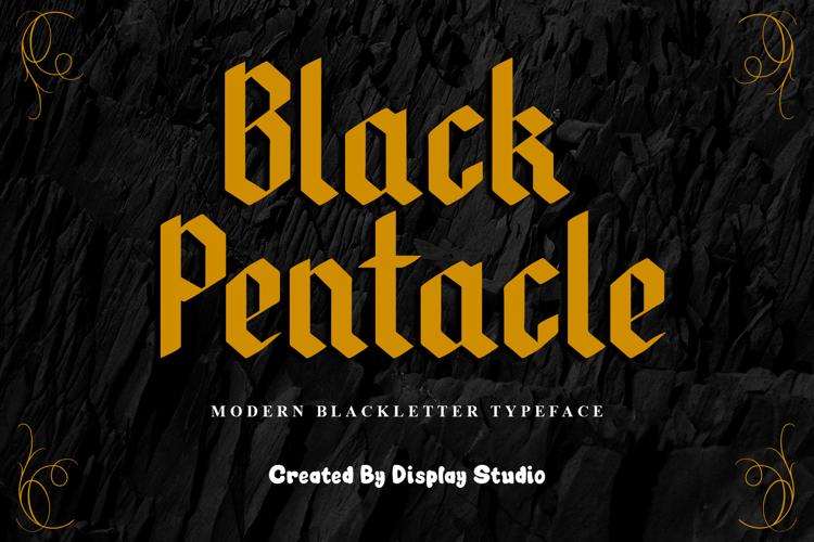 Black Pentacle Font