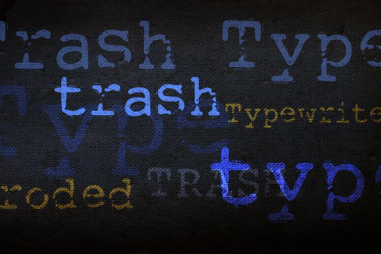 DK Trashtype Font