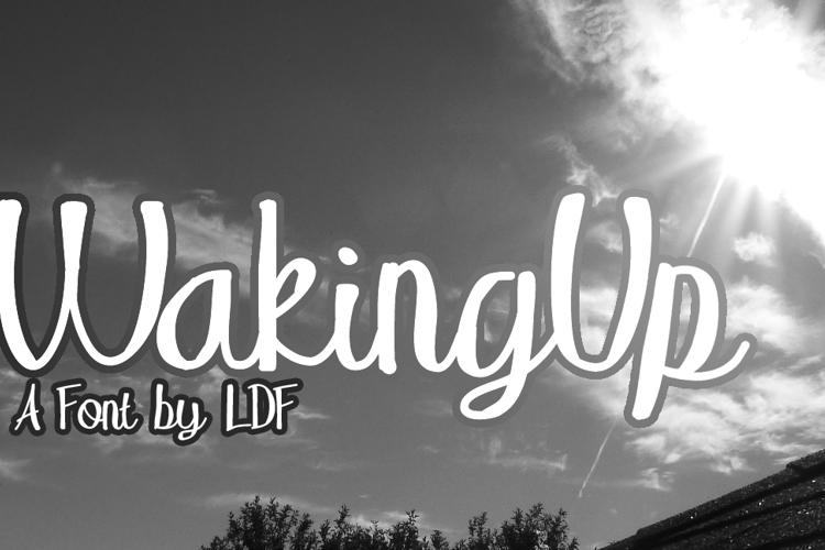 WakingUp Font