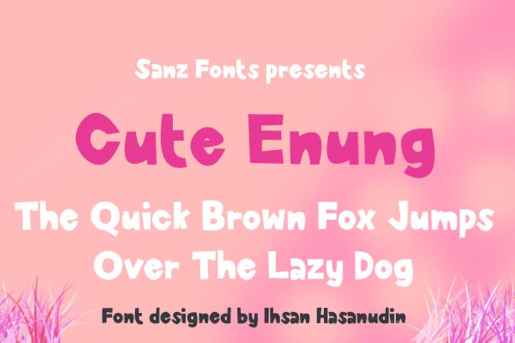 Cute Enung Font