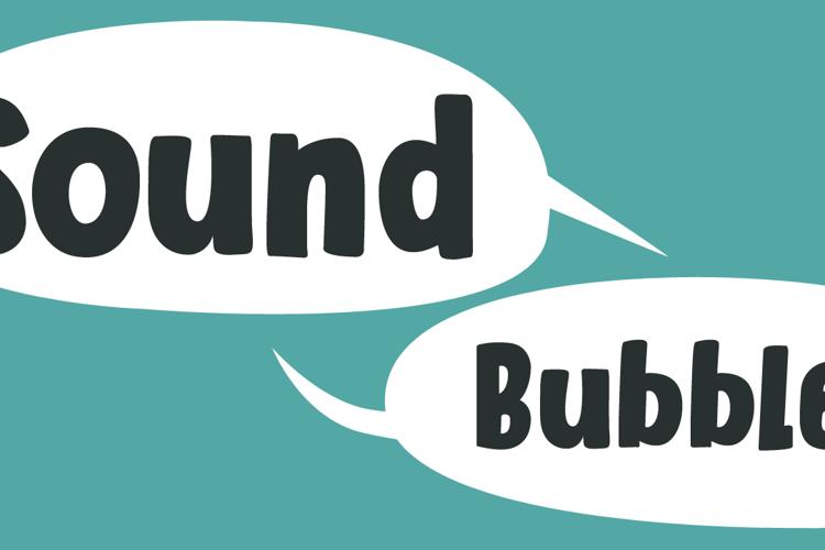 Sound Bubble Font