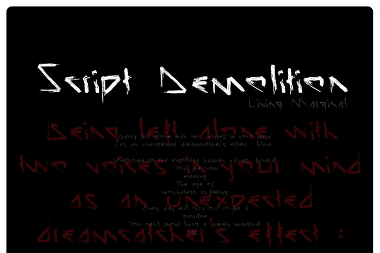 Script Demolition Font