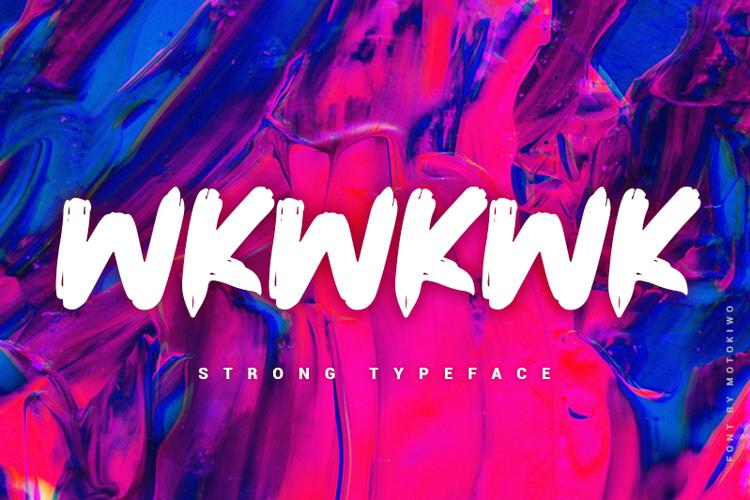 Wkwkwk Font