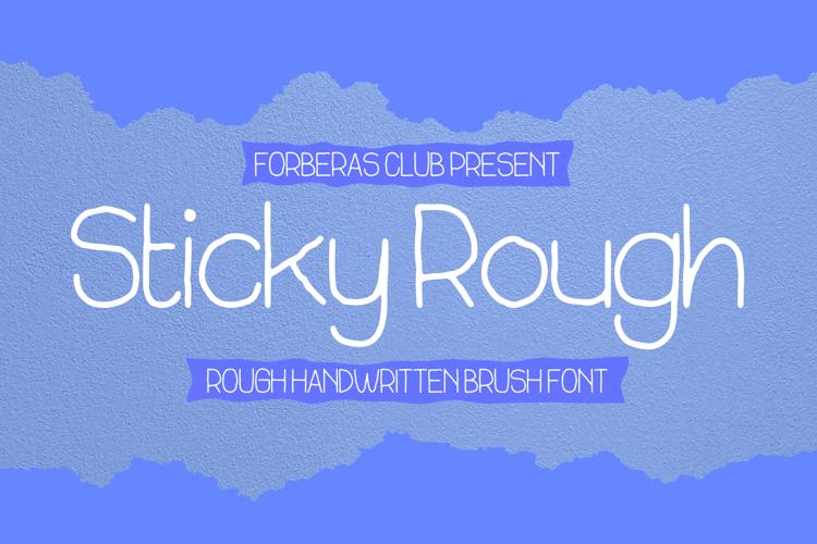 Sticky Rough Font