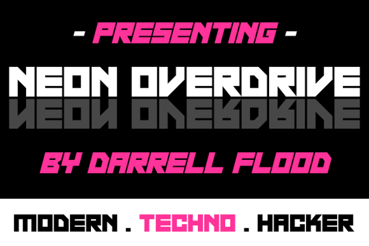 Neon Overdrive Font