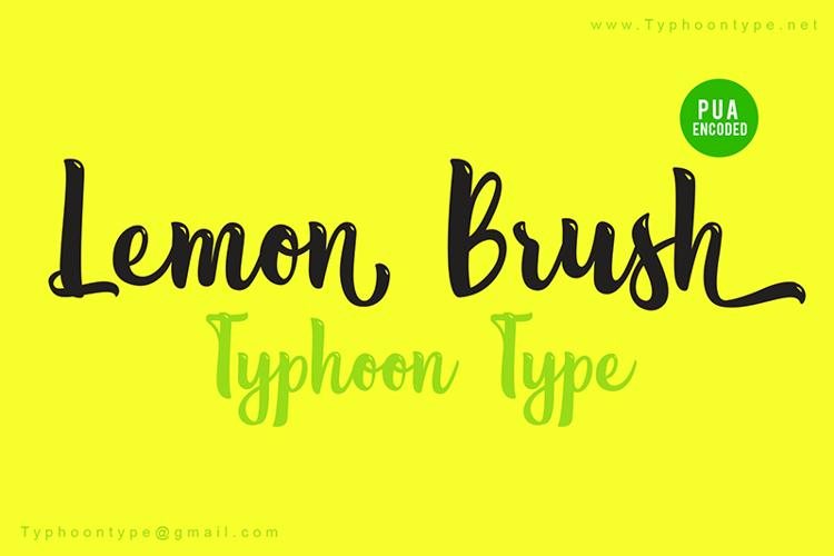 Lemon Brush Font