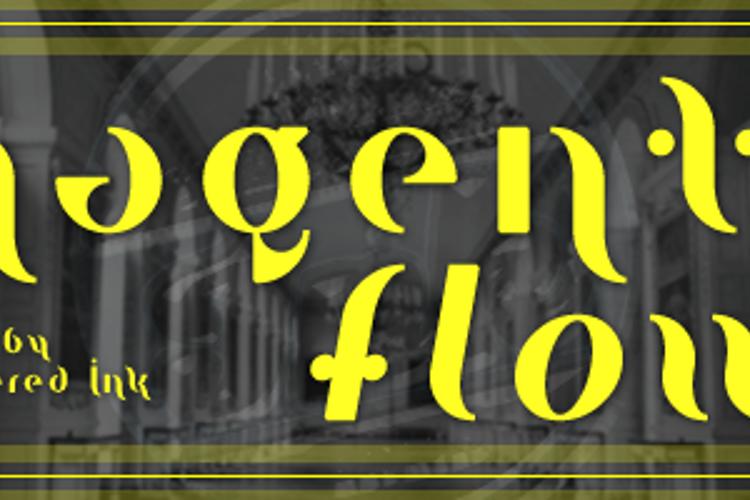Magenta Flow Font