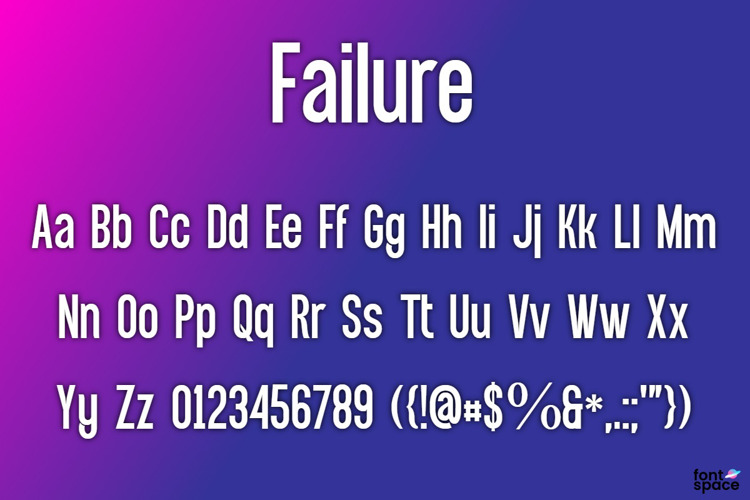 BB Failure Font